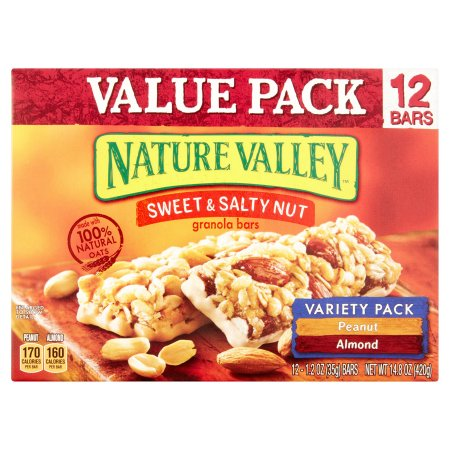 Nature Valley™ Peanut/Almond Sweet & Salty Nut Granola Bars Variety Pack 12 ct Box