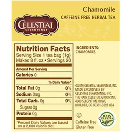 Celestetial Seasonings Chamomile Herbal Tea, 20 ct