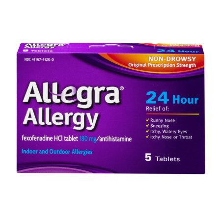 Allegra Allergy 24 Hour Antihistamine Tablets, 5 count
