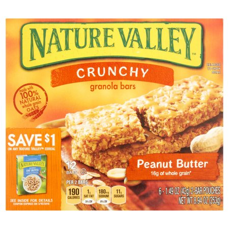 Nature Valley™ Peanut Butter Crunchy Granola Bars 6-2 ct Pouches