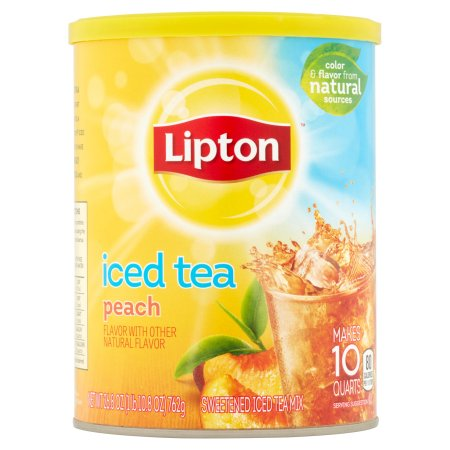 Lipton Peach Sweetened Iced Tea Mix, 10 qt