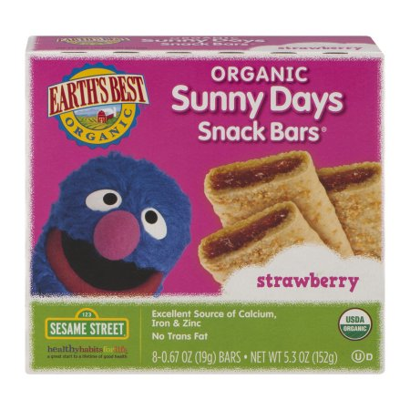 Earth's Best Organic Sunny Days Snack Bars Strawberry - 8 CT