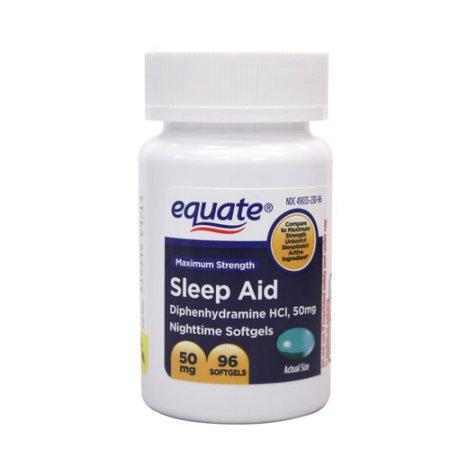 Equate Sleep Aid Liquidcaps, 96ct