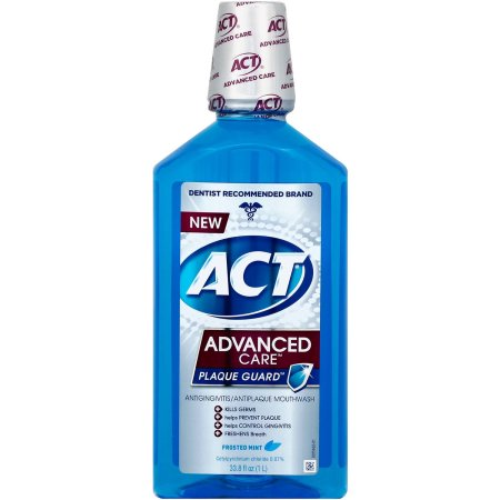 ACT Advanced Care Plaque Guard Frosted Mint Antigingivitis/Antiplaque Mouthwash, 33.8 oz