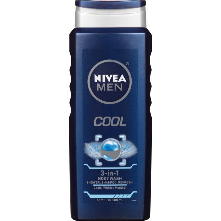 NIVEA Men Cool 3-in-1 Body Wash 16.9 fl. oz.