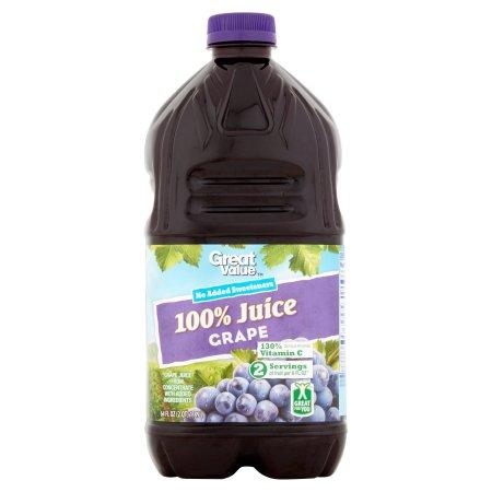 Great Value 100% Grape Juice, 64 fl oz