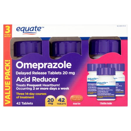 Equate Omeprazole Tablets, 42 count