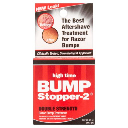 Bump Stopper-2 High Time Double Strength Razor Bump Treatment, 0.5 oz