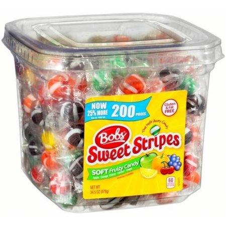 Bob's Sweet Stripes Soft Fruit Candy, 34.5 oz
