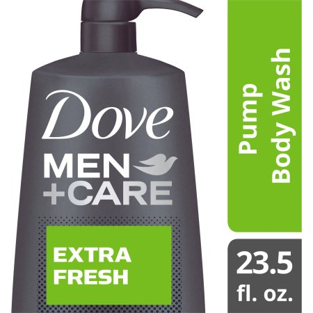 Dove Men+Care Extra Fresh Body Wash with Pump, 23.5 oz
