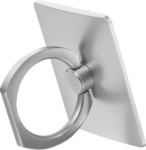 Insignia™ - Phone Ring Stand Finger Grip/Kickstand for Mobile Phones - Silver