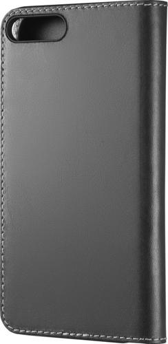 Platinum - Genuine American Leather Folio Case for Apple® iPhone® 7 Plus and 8 Plus - Charcoal