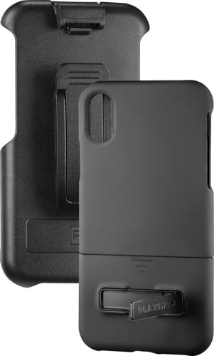 Platinum - Protective Case with Holster for Apple® iPhone® X and XS - Black