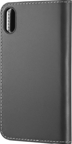 Platinum - Genuine American Leather Folio Case for Apple® iPhone® X and XS - Charcoal