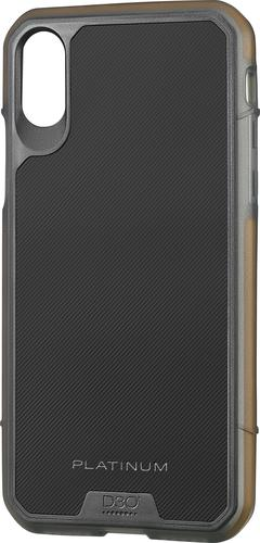 Platinum - Protective Case for Apple® iPhone® X and XS - Black/Orange