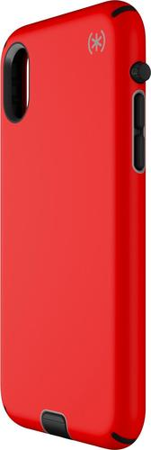 Speck - Presidio SPORT Case for Apple® iPhone® X and XS - Black/poppy red