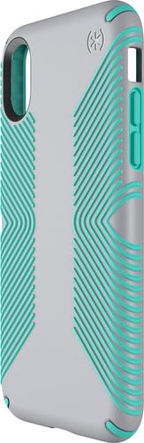 Speck - Presidio Grip Case for Apple® iPhone® X and XS - Gray/green