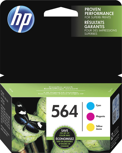 HP - 564 3-Pack Ink Cartridges - Cyan/Magenta/Yellow