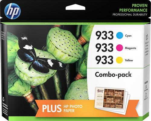 HP - 933 3-Pack Ink Cartridges - Cyan/Magenta/Yellow