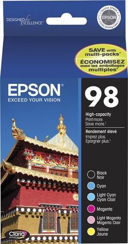 Epson - 98 6-Pack High-Yield Ink Cartridges - Cyan/Light Cyan/Magenta/Light Magenta/Yellow/Black