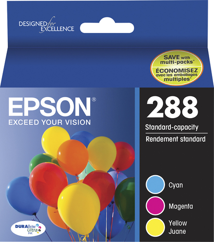 Epson - 288 3-Pack Ink Cartridges - Cyan/Magenta/Yellow