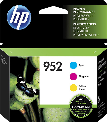HP - 952 Combo Pack 3-pack Ink Cartridges - Yellow/ Cyan/ Magenta