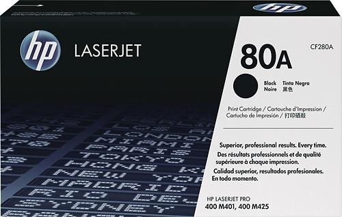 HP - 80A Toner Cartridge - Black