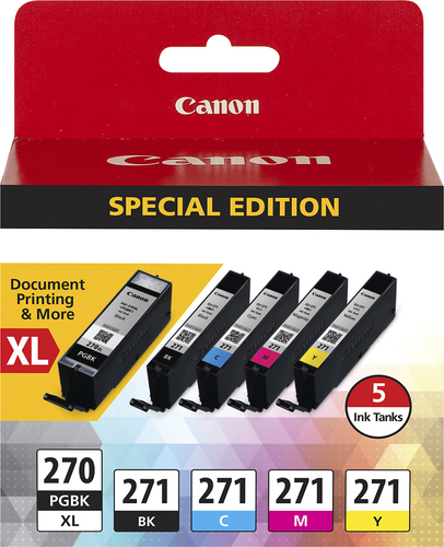 Canon - 270 XL/CLI-271 5-Pack Special Edition Ink Cartridges - Black/Cyan/Magenta/Yellow