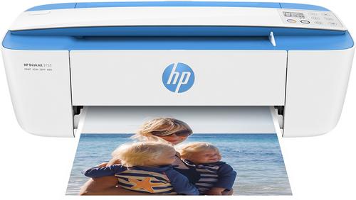 HP - DeskJet 3755 Wireless All-in-One Instant Ink Ready Printer - Blue
