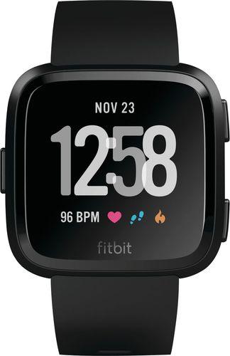 Fitbit - Versa Smartwatch 34mm Aluminum - Black/Black
