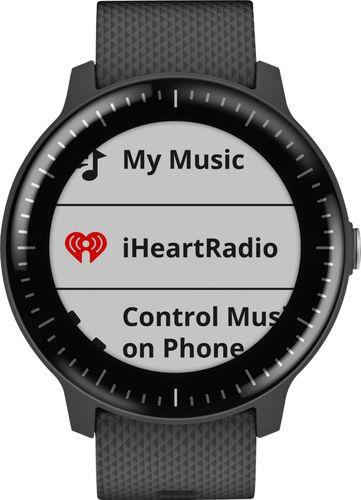 Garmin - vívoactive 3 Music Smartwatch 43mm Polymer - Black Silicone
