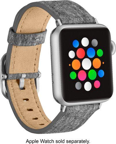 Platinum - Fabric Watch Strap for Apple Watch® 38mm - Light Gray