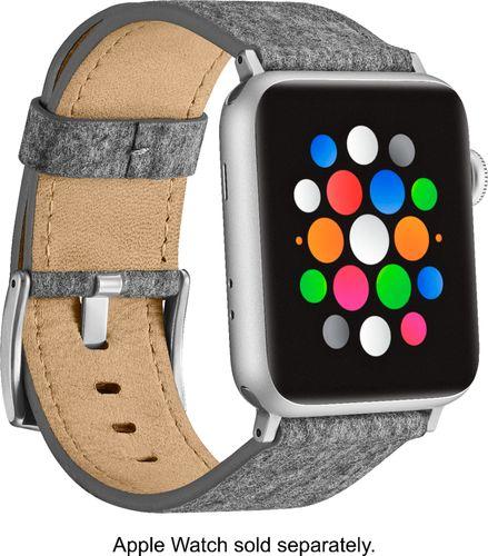 Platinum - Fabric Watch Strap for Apple Watch® 42mm - Light Gray