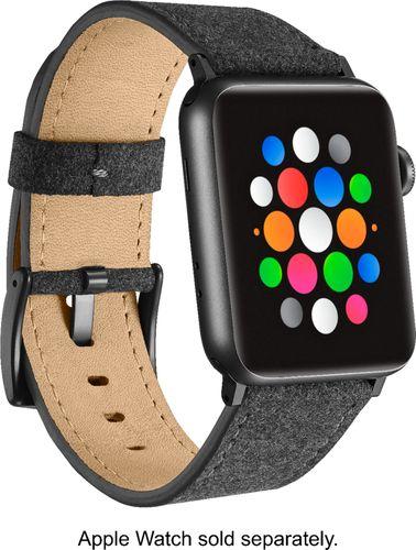 Platinum - Fabric Watch Strap for Apple Watch® 42mm - Dark Gray