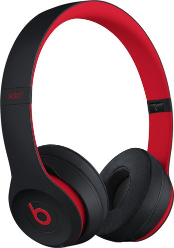 Beats by Dr. Dre - Beats Solo³ Wireless Headphones - The Beats Decade Collection - Defiant Black-Red