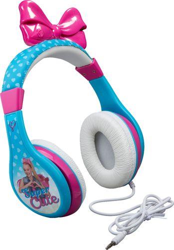 eKids - JoJo Siwa Over-the-Ear Headphones - White/Pink/Blue