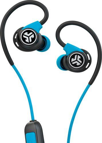 JLab Audio - Fit Sport Fitness Earbuds Wireless In-Ear Headphones - Black/Blue