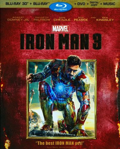 Iron Man 3 [3 Discs] [Includes Digital Copy] [3D] [Blu-ray/DVD] [Blu-ray/Blu-ray 3D/DVD] [2013]