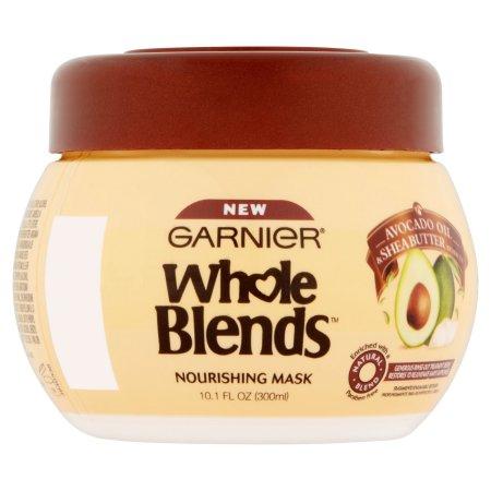 Garnier Whole Blends Avocado Oil & Shea Butter Extracts Nourishing Mask, 10.1 fl oz