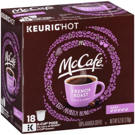 McCafe French Roast Dark Coffee K-Cup Pods, 18 count, 6.2 OZ (176g)