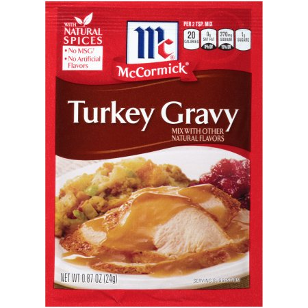McCormick® Turkey Gravy, 0.87 oz. Packet