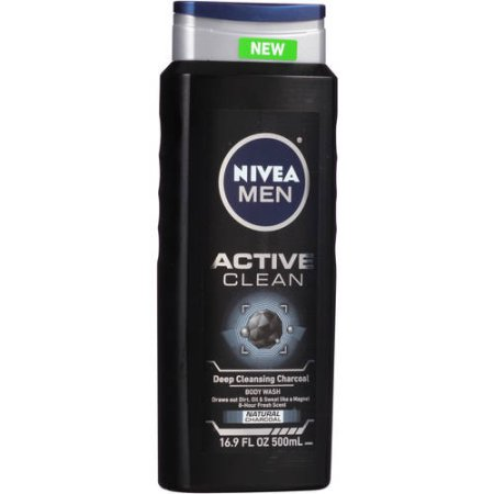 NIVEA Men Active Clean Body Wash 16.9 fl. oz.