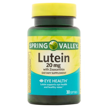 Spring Valley Natural Lutein with Zeaxanthin Dietary Supplement Softgels, 20mg, 30 count