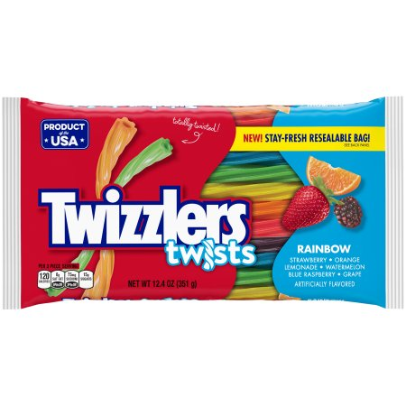 TWIZZLERS Rainbow Twists, 12.4 oz