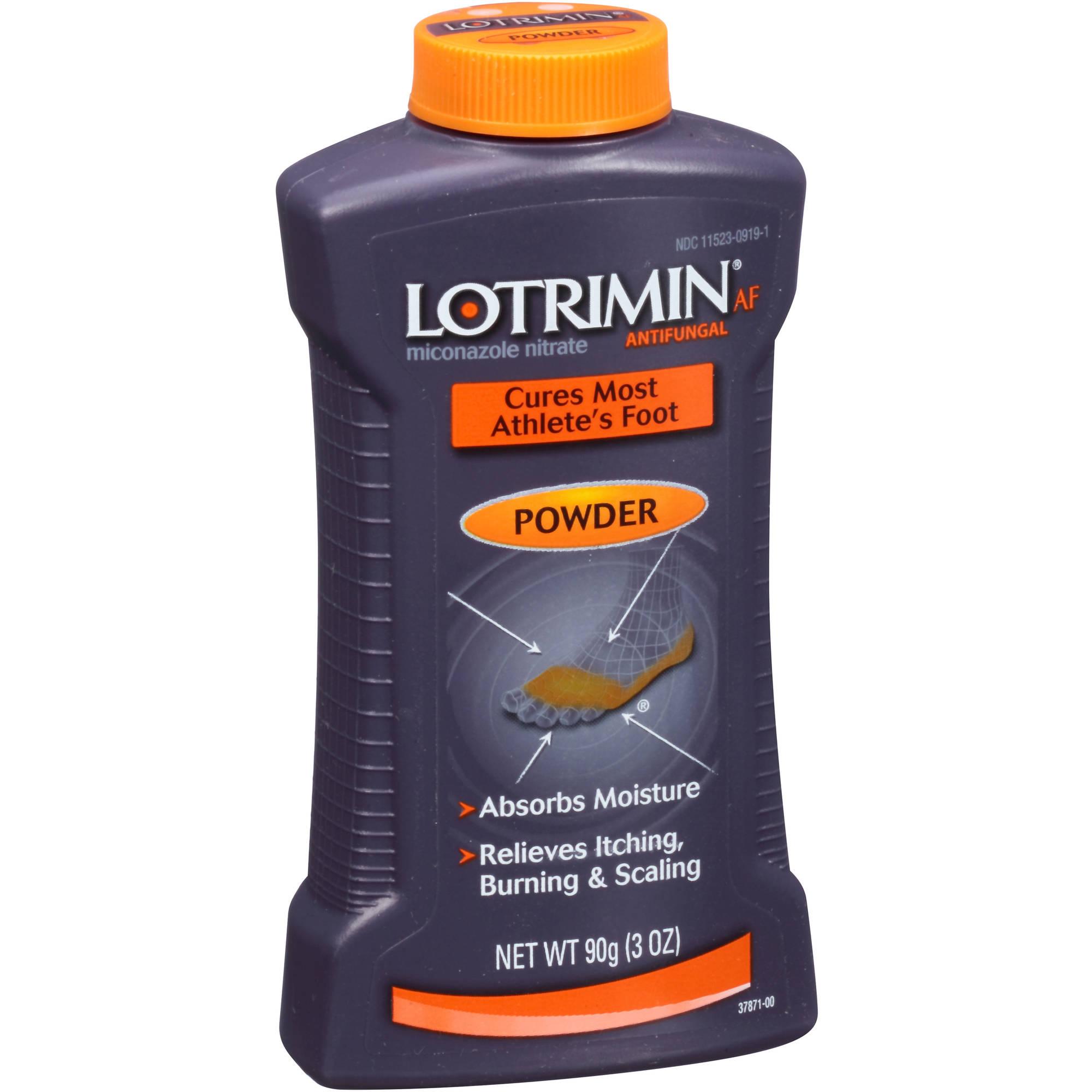 Lotrimin AF Miconazole Nitrate Antifungal Powder, 3 oz