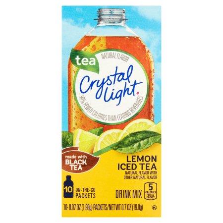 Crystal Light On the Go Lemon Iced Tea Drink Mix 10 ct Box