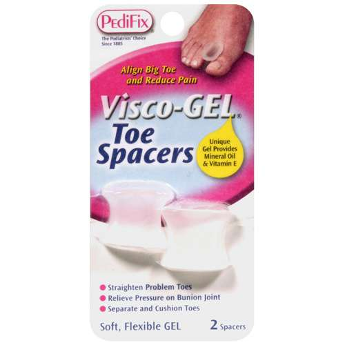 Visco Gel: Gel Toe Spacers, 1 Pr