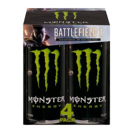 Monster Energy Drink - 4 PK, 16.0 FL OZ