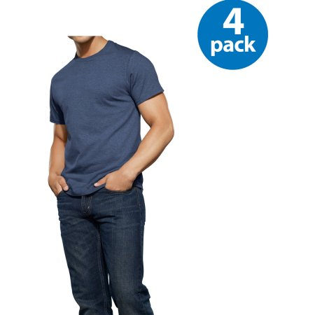 New Reinvented Tee! Fruit of the Loom Men's Assorted Color Crews, 4-Pack