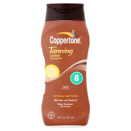 Coppertone Tanning Lotion Sunscreen, SPF 8, 8 fl oz